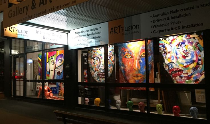 Custom interior design artworks Sydney art studio gallery