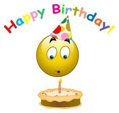 Happy Birthday FB Symbols | Birthday Cake Smiley Emoticons for Happy Birthday Beautiful candle ...