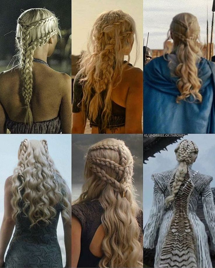 Daenerys' hair evolution by her conquests