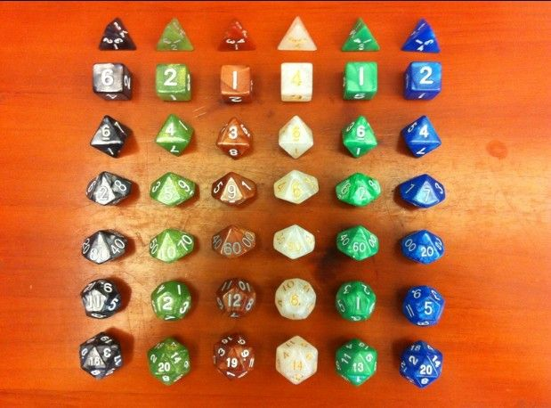 Dnd 7 dices (D4, D6, D8 D10 (0-9), D10 (00-90), D12, D20) DUNGEONS & DRAGONS D & D RPG Dice Game Set van 7 Stks