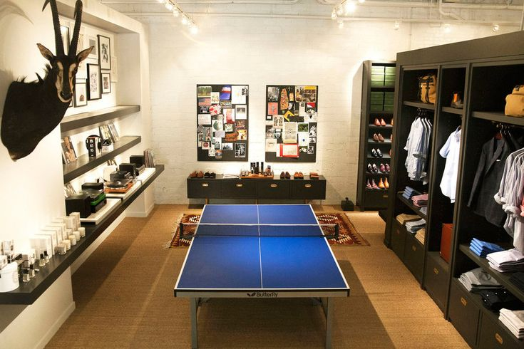 A good place to relax with a little game of Table Tennis (aka, Ping Pong) and some retail therapy