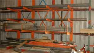 Heavy duty cantilever racksHeavy Duty Cantilever Racks makes storage of long or awkward materials safe and efficient which saves time and money. Often business warehouses put bulk items like aluminum sheets, flake board, dry wall and steel sheets in piles on the floor creating an unsafe and unorganized working environment for warehouse personnel