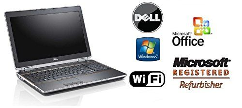 """Dell 15.6"""" Laptop PC - Premium Latitude E6520 Refurbished Notebok - 8GB DDR3 RAM, """"NEW"""" 256GB SOLID STATE HDD - FAST Core i7 2.7GHz CPU, Win 7 PRO & MS Office Preinstalled, DVD/RW & WiFi"""