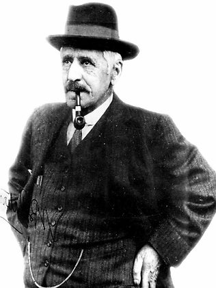 """Andrew Barton """"Banjo"""" Paterson OBE, 1864 - 1941. His poems chronicle outback Australia in an engaging style and have become part of Australian heritage and culture."""