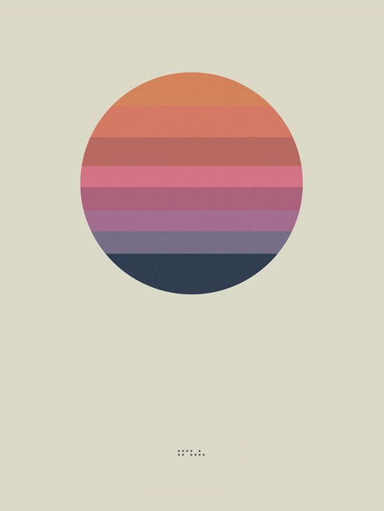 "Awake Album Poster ""Sun"" (Lithograph) 色の組み合わせが美しい。"