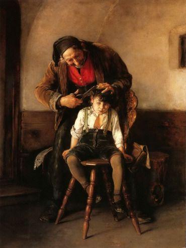 .:. Γύζης Νικόλαος – Gyzis Nikolaos [1842-1901]Ο κουρέας