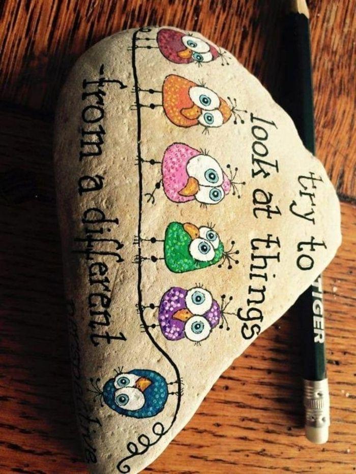 peindre des galets et écrire des citations inspirantes