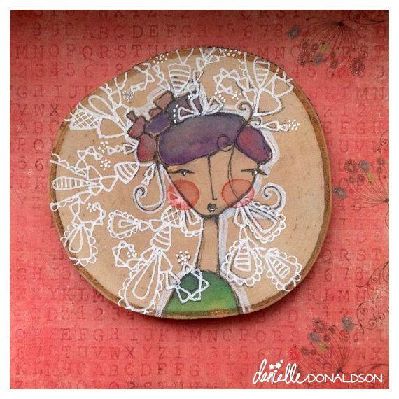 birchGIRL no. 8. circled in light and by DanielleDonaldsonArt, $25.00