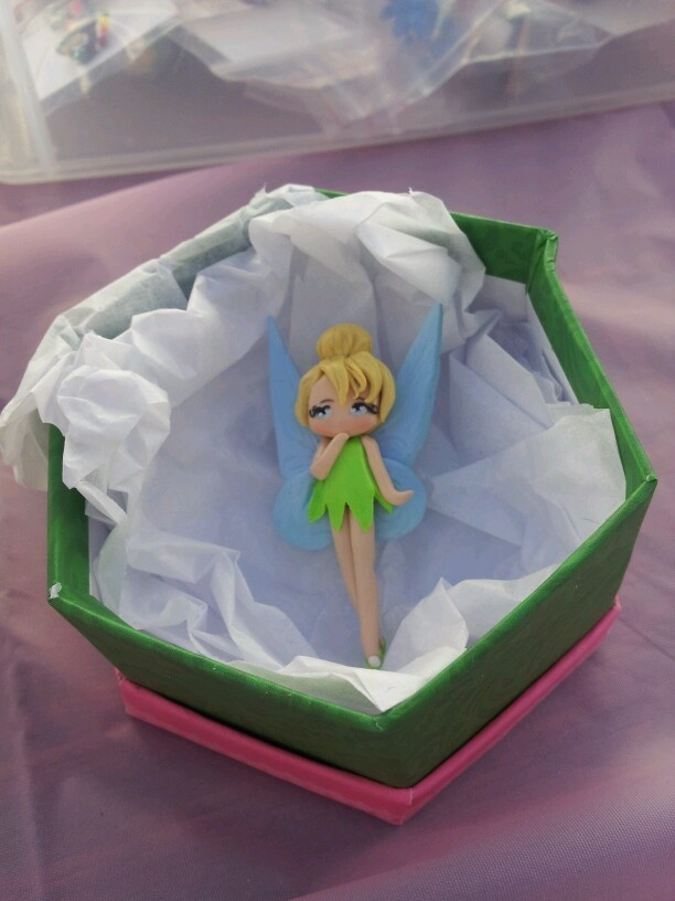Polymer clay tinkerbell brooch