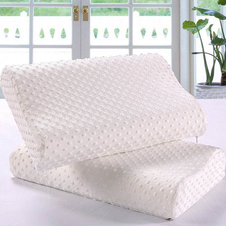 Orthopedic Neck Pillow Fiber Memory Foam Pillows Cervical Health Care Adults New #WhitePillowChina