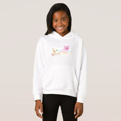 Pink Farm Pig Girls Hoodie - girl gifts special unique diy gift idea