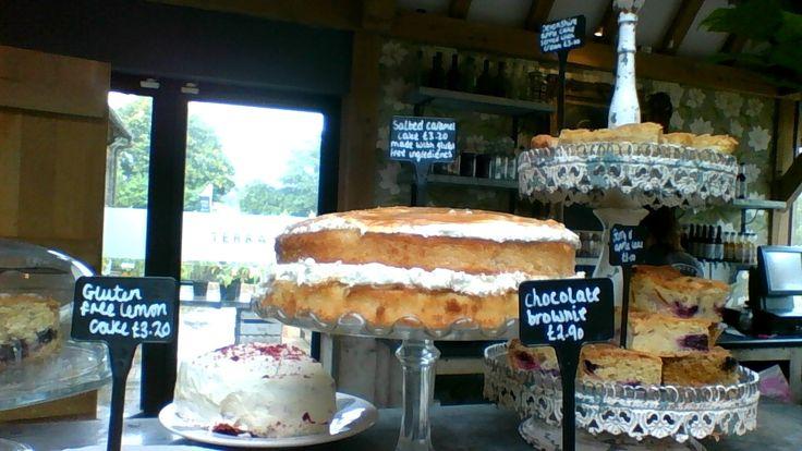 Salted Caramel #glutenfree cake served at Long Barn