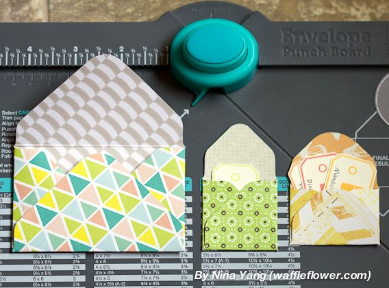Mini Envelopes, even smaller than the littlest one on the Punch Board guide ~ by…