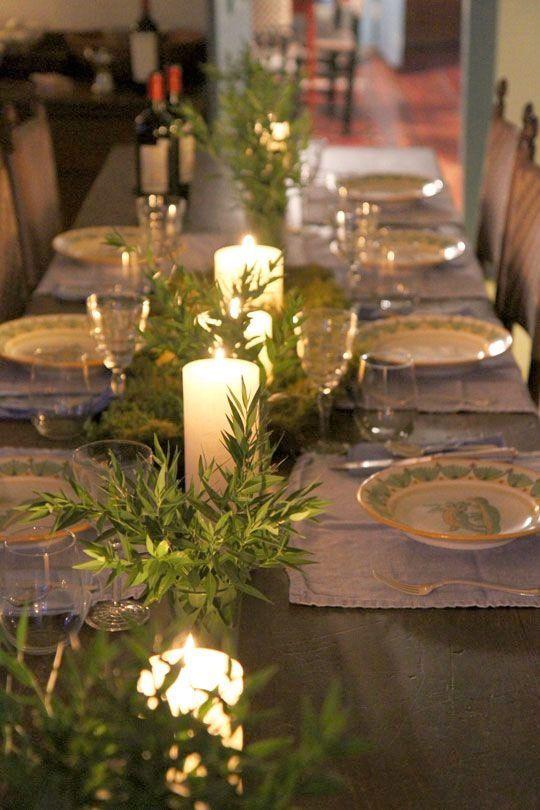 LOVELY SIMPLE TABLE DECOR Skandinavisk jul – den vackraste julen är naturligt grön (och vit) - Sköna hem