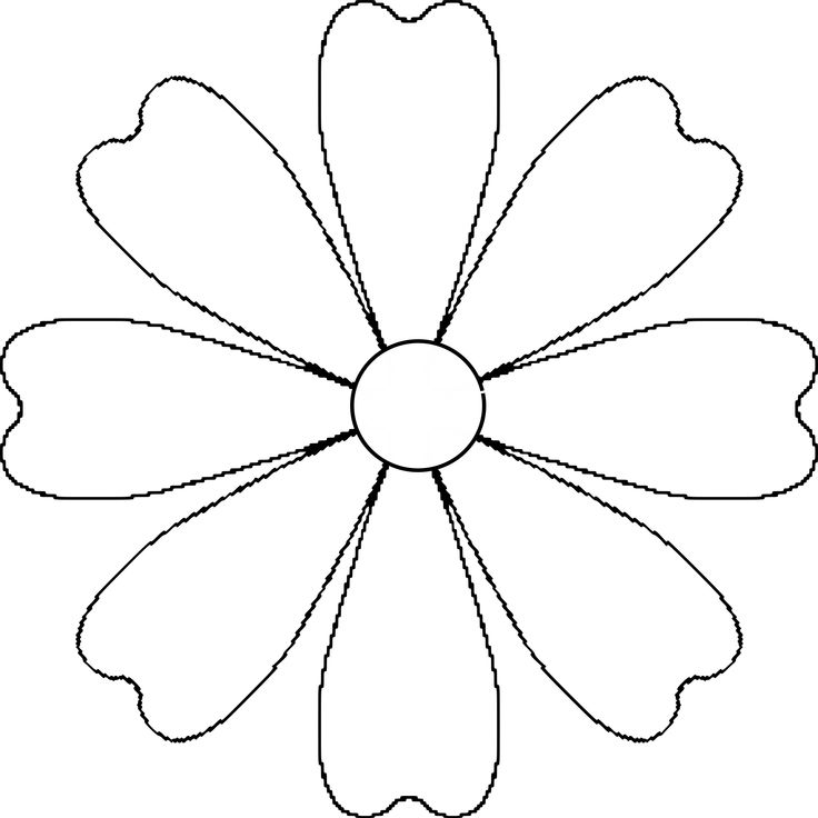 1000 Ideas About Flower Outline On Pinterest Pretty
