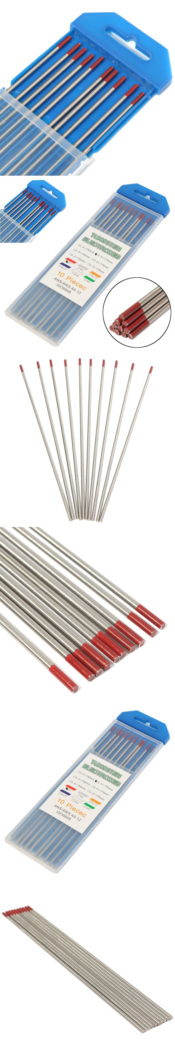 """Best Price Red Tip 3/32"""" x 7""""(2.4x175mm) Thoriated Tungsten WT20 2% Welding TIG Electrode Lower Electronic Functions Welding Rod"""