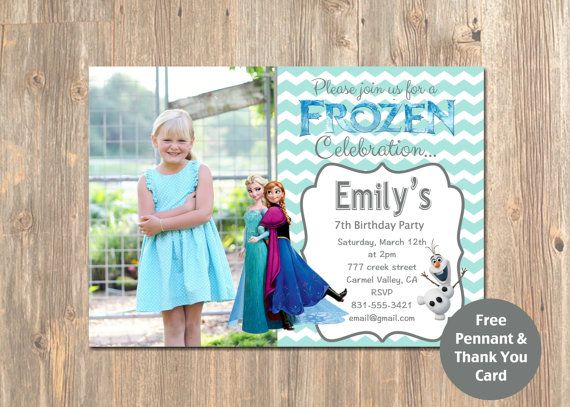 Free Disney Frozen Birthday Invitations ~ Best disney s frozen birthday party from mustardseeds images