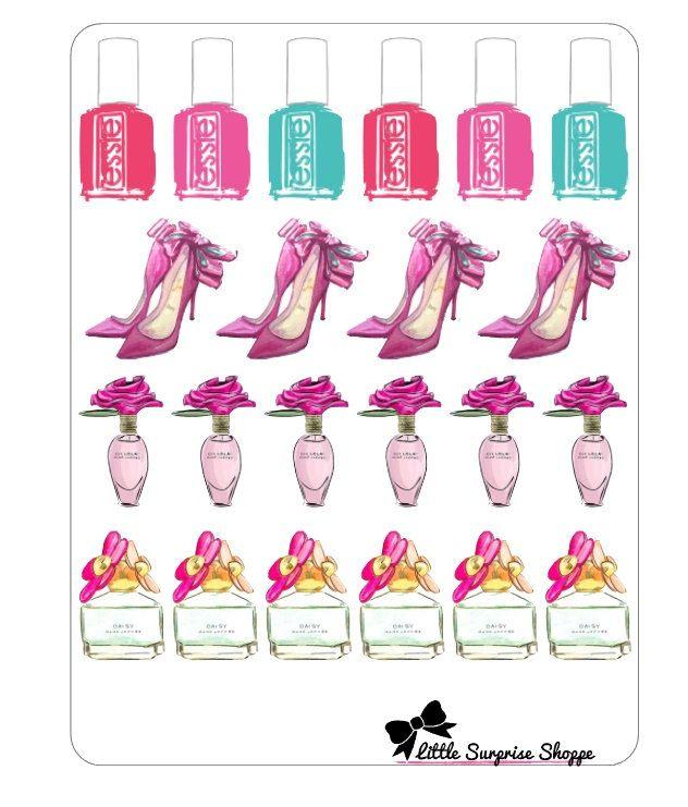 Pink Chic Stickers by LittleSurpriseShoppe on Etsy