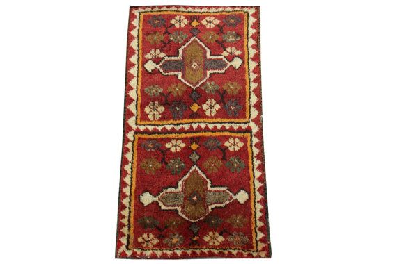 Doormats Turkish rugs handmade 28 x 1.5 Feet by stripepattern