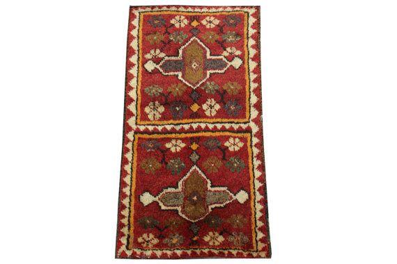 Doormats Turkish rugs handmade 28 x 1.5 Feet by stripepattern