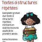Voici un exemplaire gratuit d'un texte à structures répétées qui permettra à vos élèves de développer leur reconnaissance globale des mots usuels d...