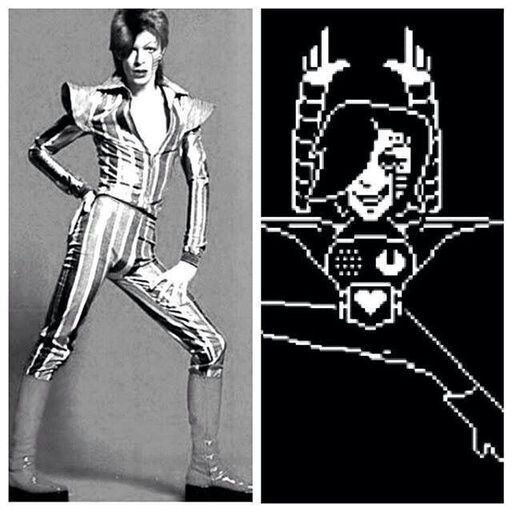 Mettaton was inspired by David Bowie