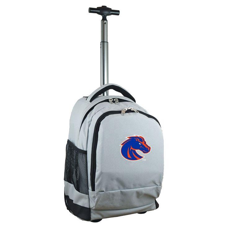 NCAA Boise State Broncos Grey Premium Wheeled Backpack