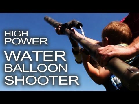 Bring out the big guns!  Have you ever seen a water balloon shotgun?  Here's how to make a High Powered Water Balloon Shooter that will fire 17 balloons at once!    http://www.thekingofrandom.com