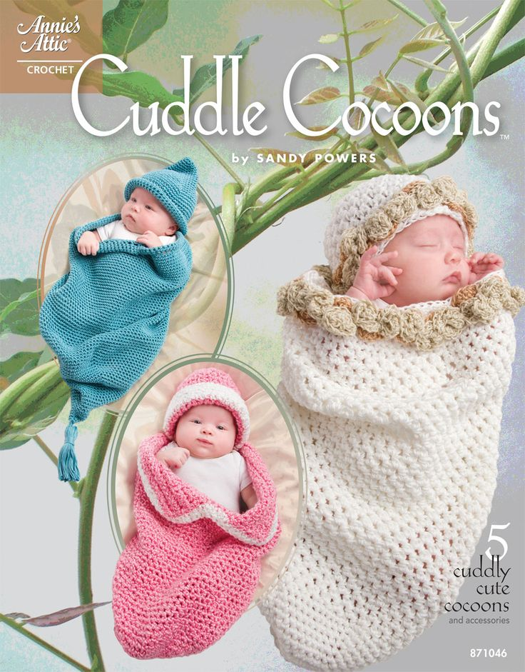 Free Baby Crochet Patterns | New crochet pattern book offers easy baby cocoon designs **Listed as FREE, could only find available for $8.95**