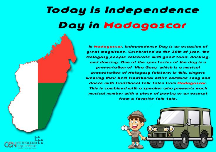 Today we celebrate Independence Day in Madagascar!🇲🇬️