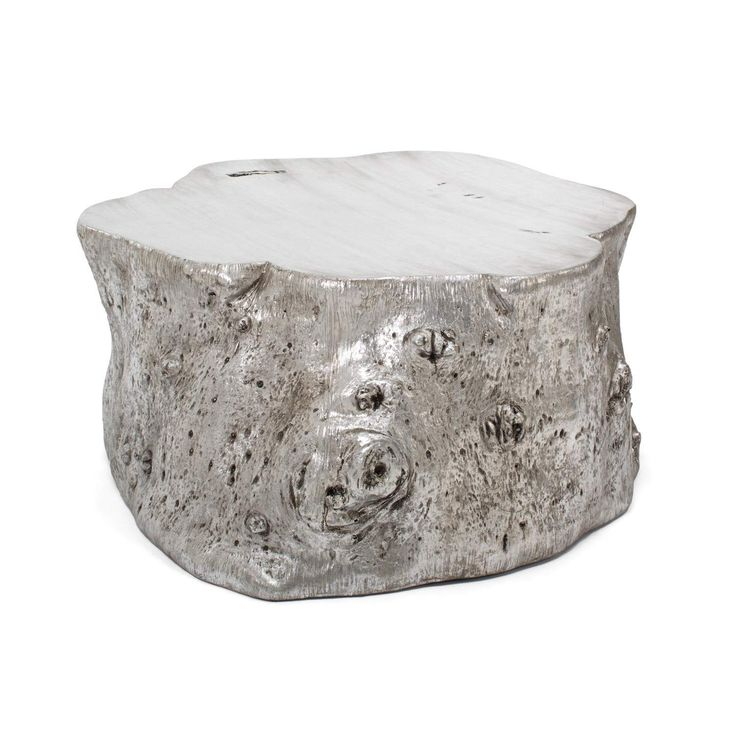 Exclusively at ABC, the Origin coffee table is natural forms with an edge. Made from resin that has been cast from a naturally fallen tree trunk, this rustic yet contemporary piece is finished in delicate silver leaf. Each is one-of-a-kind.