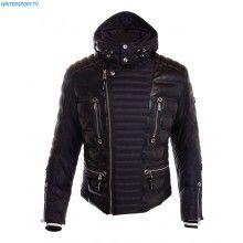 Bogner Men Perth D Jacket – Black Sport Leather