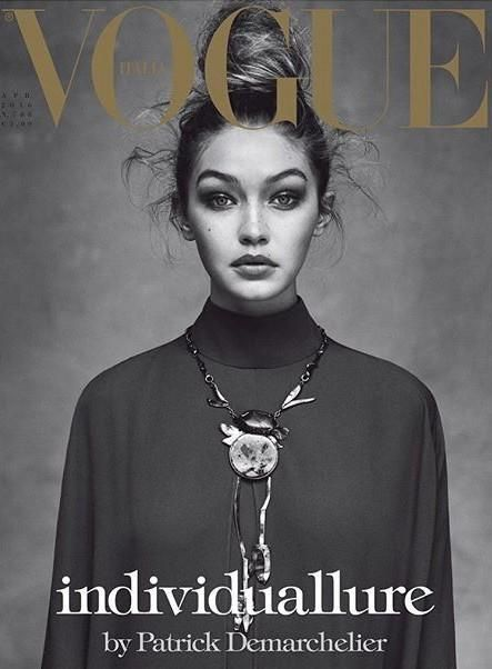 Gigi Hadid by Patrick Demarchelier for Vogue Italia April 2016 Cover - Valentino Fall 2016