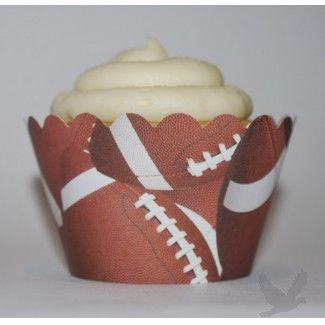 2012 Superbowl Party Ideas - Football cupcake wrappers