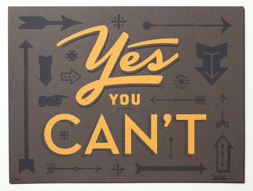Yes You Can't
