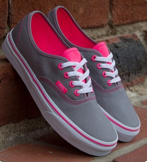 gray and pink vans - looks like my own :D FOLLOW ME ON TWITTER http://twitter.com/...
