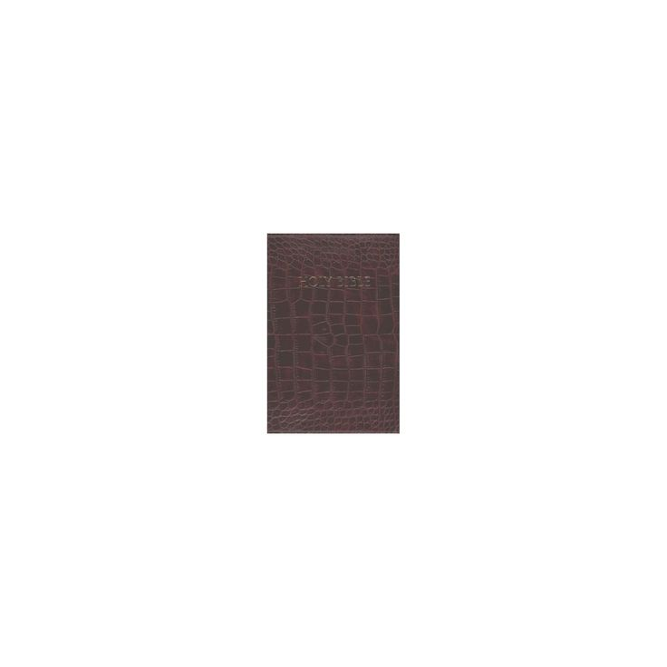 Holy Bible : King James Version, Walnut Alligator Bonded Leather, Thinline Bible (Large Print)