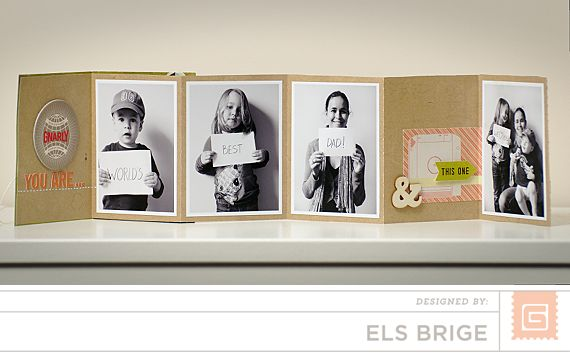 BasicGrey | Father's Day Pocket Album | Els Brige - This is adorable!