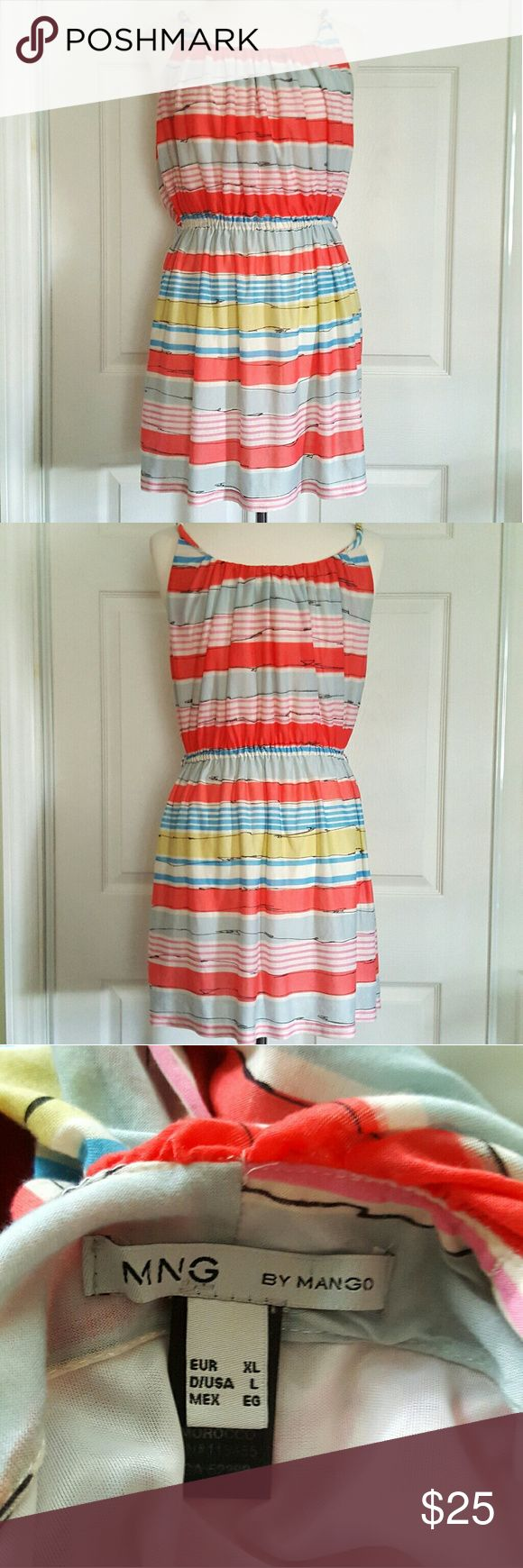 "MNG by Mango Colorful Dress Size XL Length - 38"" Bust - 20.5"" Mango Dresses"