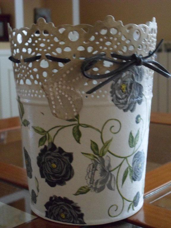 Segundo reto de decoupage craft and manualidades - Manualidades pintar caja metal ...