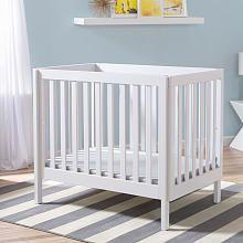 Trend Delta Children Bennington Elite Mini Crib with Mattress White