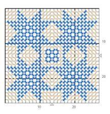 p.canvas quilt pattern-coaster