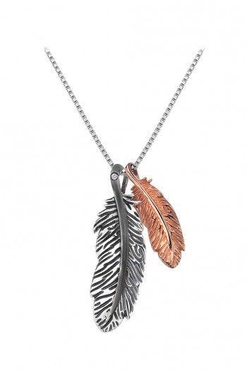 Hot Diamonds Feather Collection ketting voor dames met diamant DP514 | JewelandWatch.com