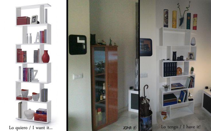 Lo quiero... lo tengo! I want it... I have it!  Estantería de salón / Shelf room  X3M4 ®