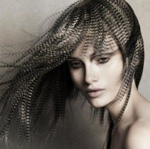 Hair Style With Unique Texture