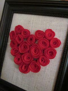 Framed Heart on Burlap