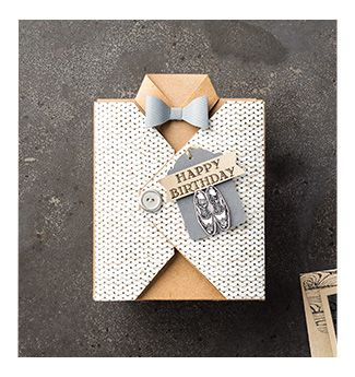 Happy Birthday Box for Him | Stamp With Bee - from our demonstrator magazine - SU - Guy Greetings Stamp Set