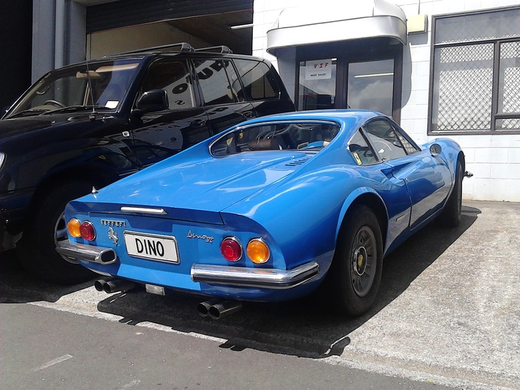 Dino 246 GT at Martin Square, Wellington, New Zealand. Photographed by Jack Yan, shared under Creative Commons Attribution 3·0 licence.