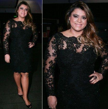 Vestido festa plus size de Preta Gil
