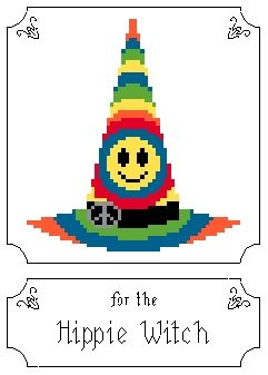 Free Halloween Cross Stitch  Madam's Hats for the Discerning Witch